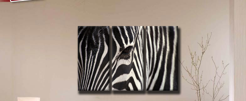 zebra eye 120x80cm 3 teilig bild tiere safari leinwand. Black Bedroom Furniture Sets. Home Design Ideas